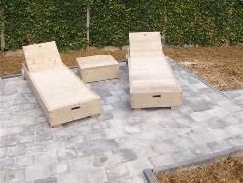 steigerhout meubelen ligbed met wielen   ABS SHOP Horebeke
